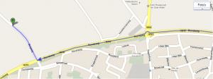 Detailkaart: route Neede naar kamplocatie