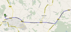Route N18 naar Neede